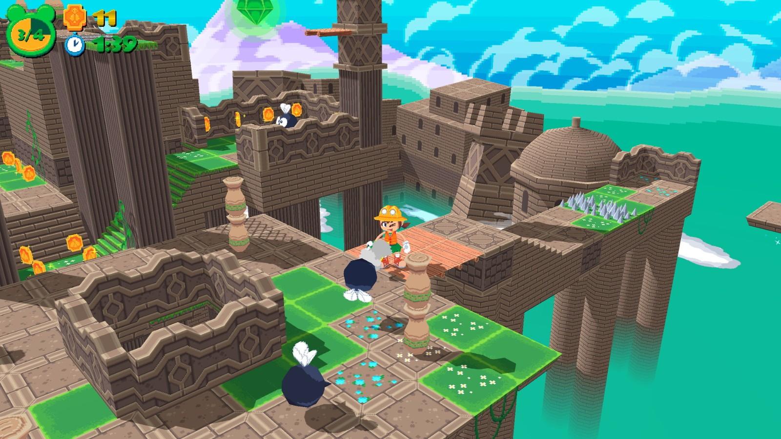 复古风格3D平台游戏《蛙枪》2022年全平台发售