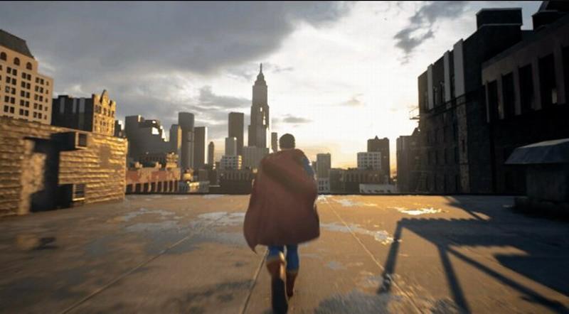 网友用虚幻5引擎自制《超人》游戏 画面效果不错