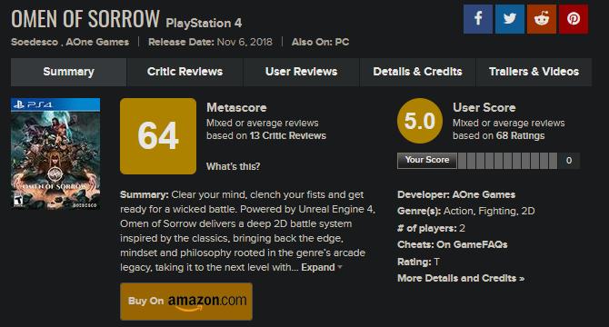 独立格斗游戏《悲伤的征兆》将于2021年内登陆Xbox One