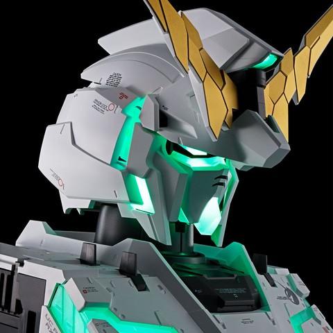 独角兽高达发光胸像钢普拉公开预购 12月正式发送