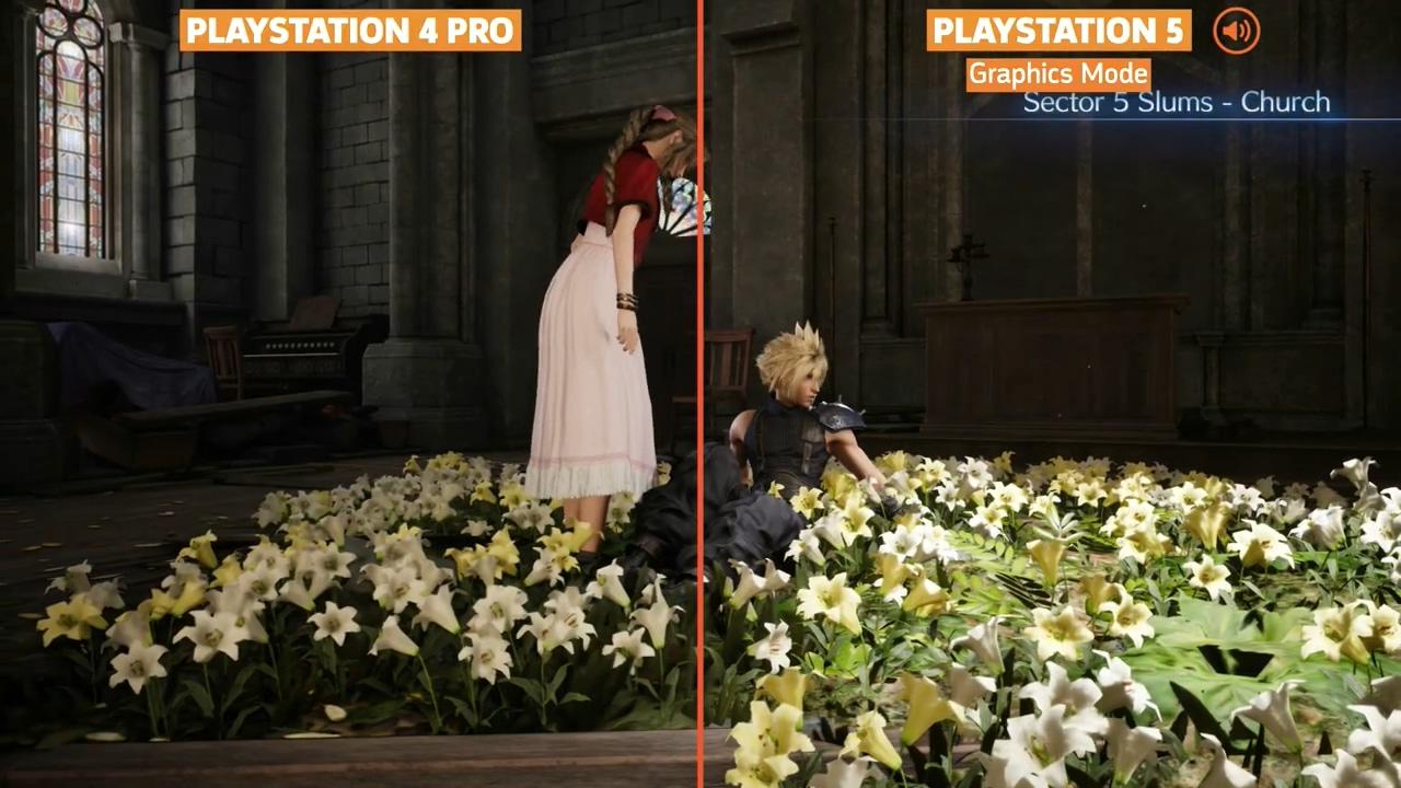 《最终幻想7:重制版》PS5、PS4版对比 游戏载入快5倍