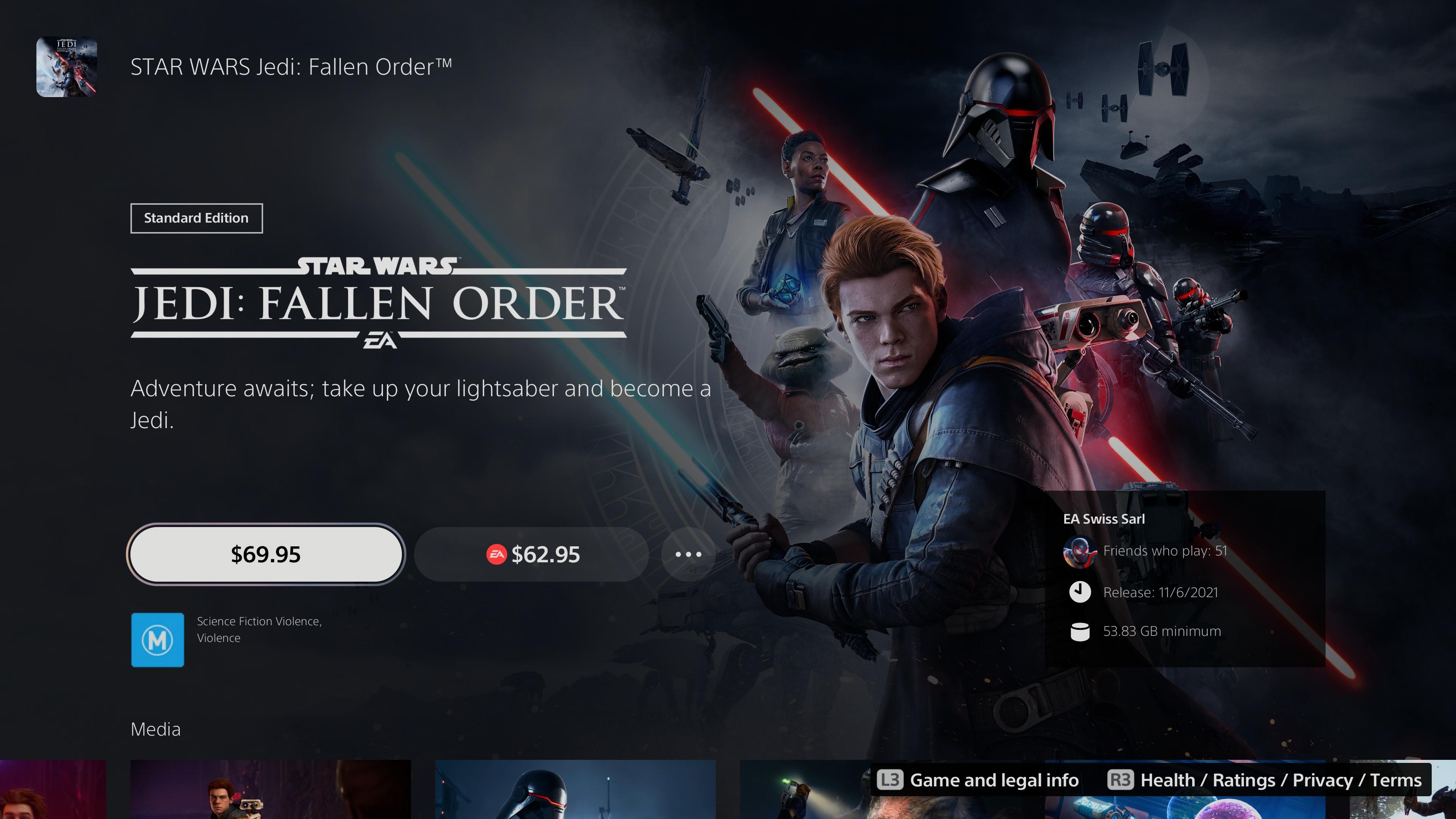 《星球大战绝地》现已登陆了Xbox Series X和PS5