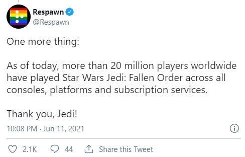 《星球大战绝地》已登陆XSX和PS5 玩家总数破2千万