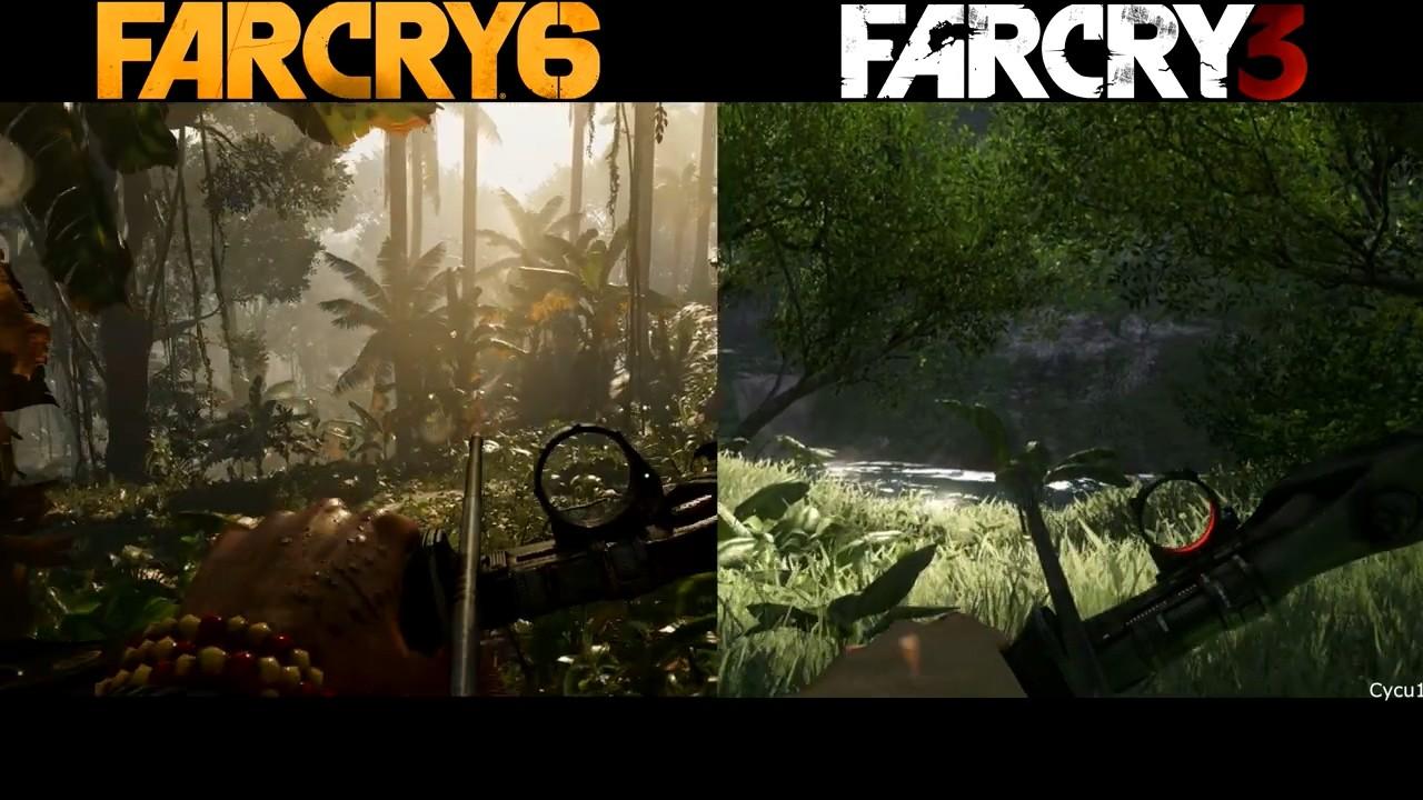 《孤岛惊魂6》和《孤岛惊魂3》早期画面对比视频