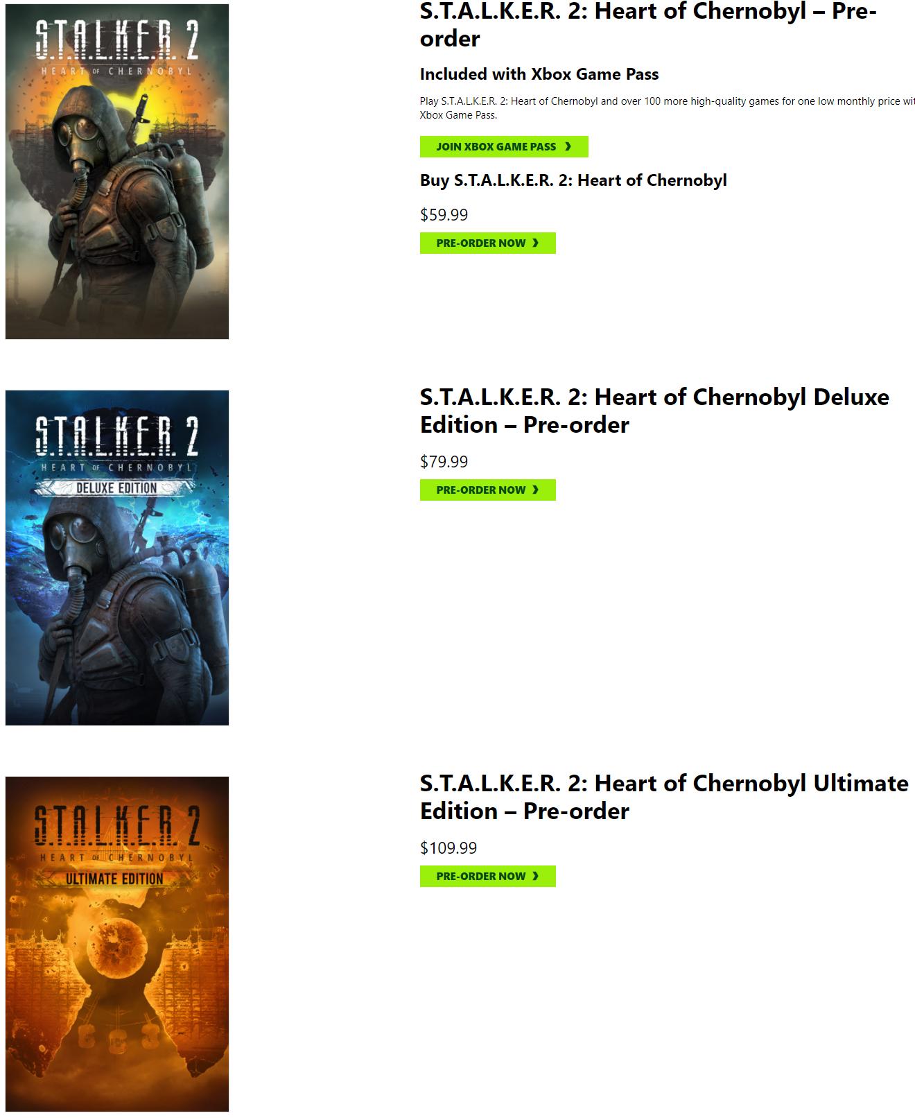 《潜行者2》预售开启 Steam国区标准版定价299元