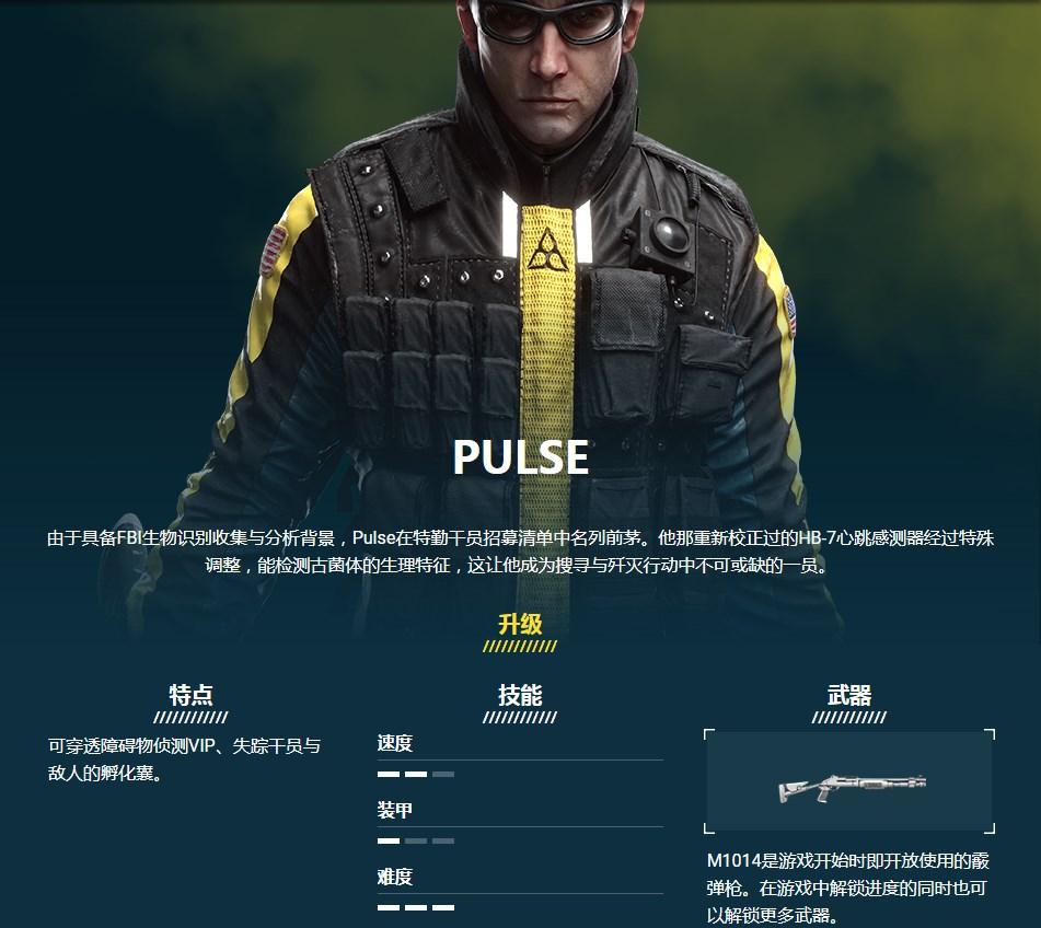《彩虹六號:異種》PULSE干員介紹
