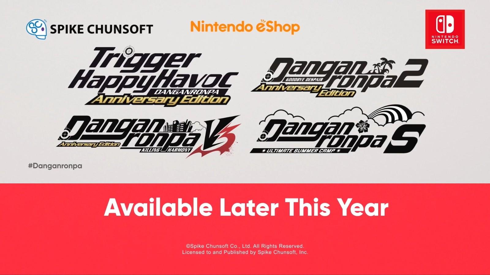 E3:《弹丸论破》4部合集2021年登陆Switch