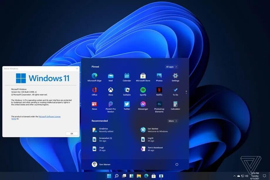 Windows 11系统首批截图曝光 6月24日正式公布