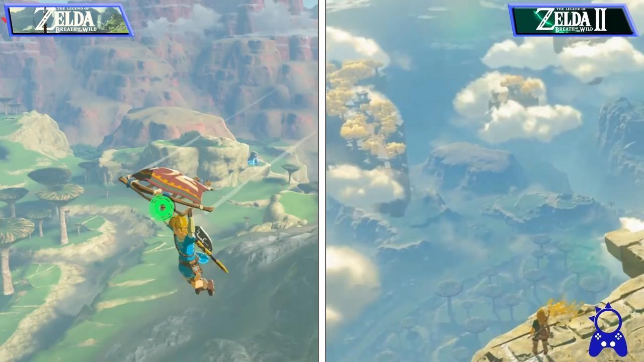 《塞尔达传说:旷野之息2》与前作画面对比 提升明显