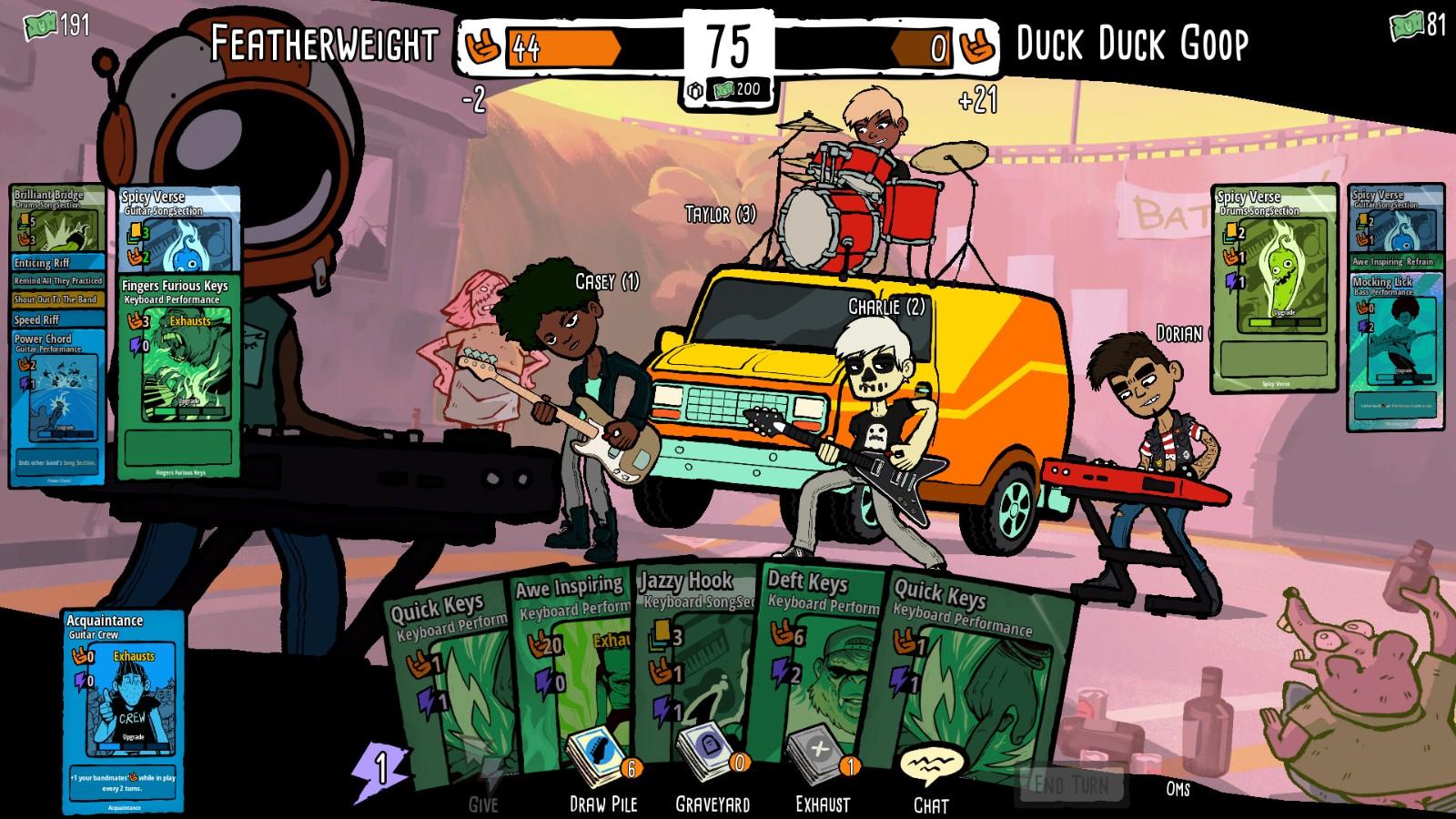 卡牌Rogue游戏《战斗乐团》发布 战胜强敌成为摇滚传奇