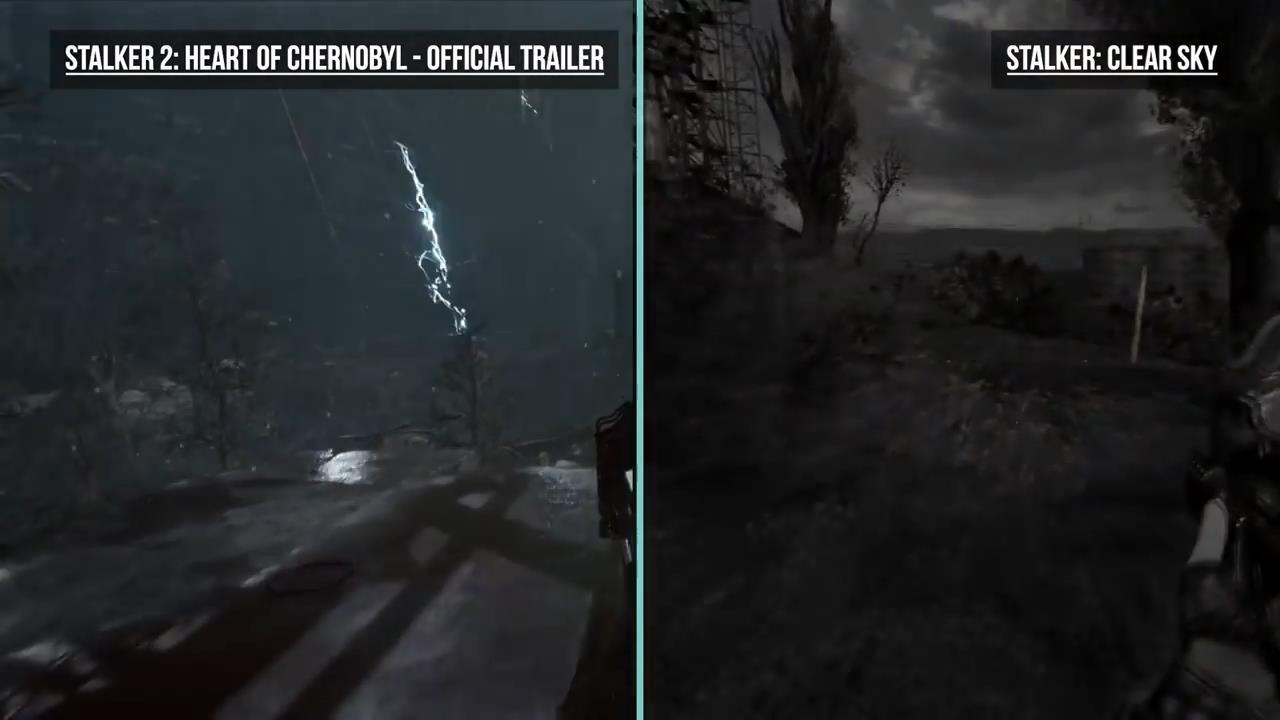《潜行者2》与《潜行者》对比视频 画面大进化