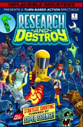 新形态回合制动作游戏《RESEARCH and DESTROY》今天起可于Steam下载体验版!