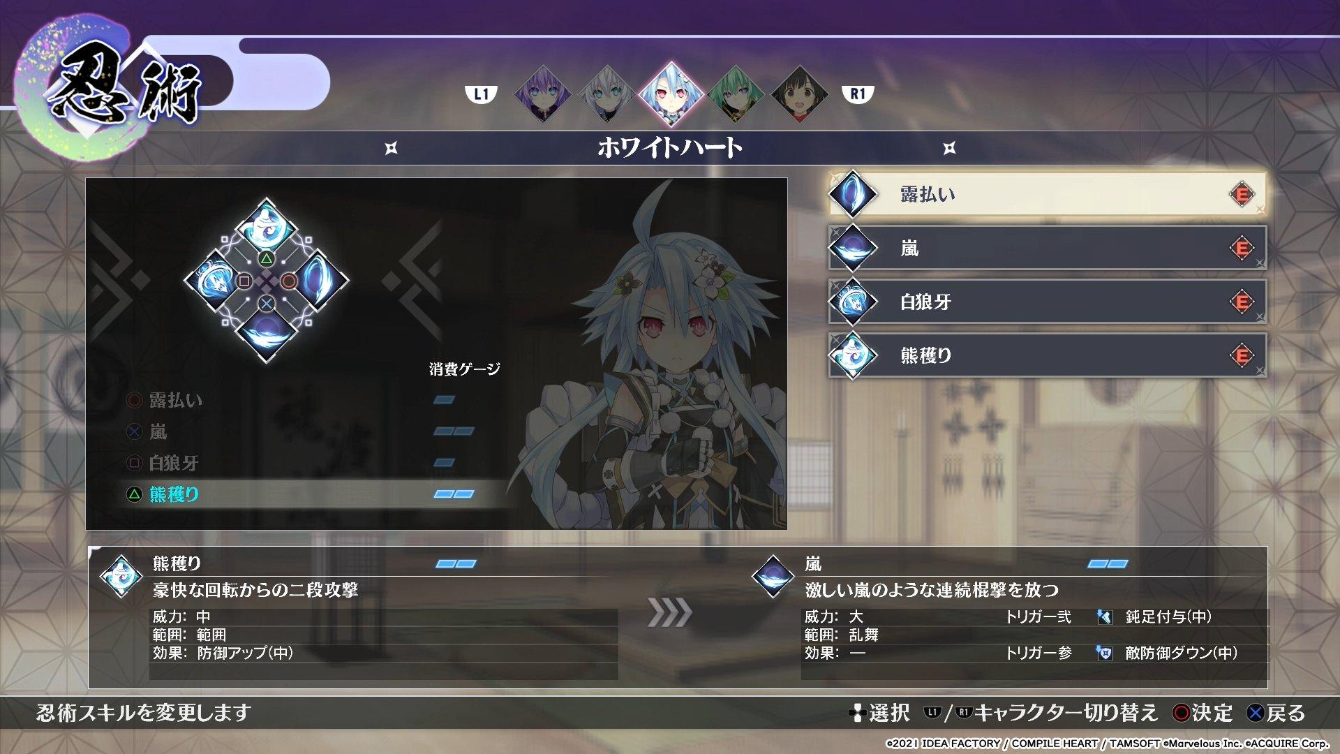 《闪乱忍忍忍者大战海王星》新图公布 展示战斗、系统细节