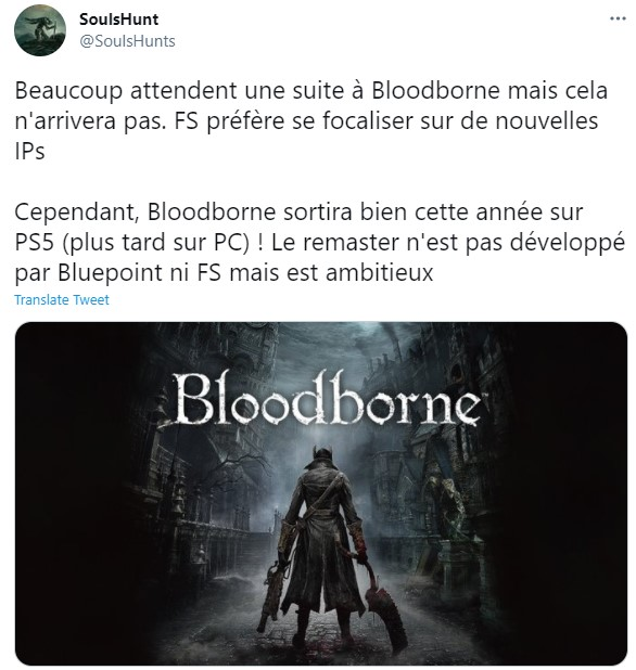 曝《血源》今年登陆PC/PS5 《血源2》没有开发