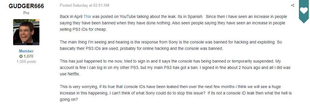 PS3主机序列号遭黑客泄露 该系列主机有被封禁的风险