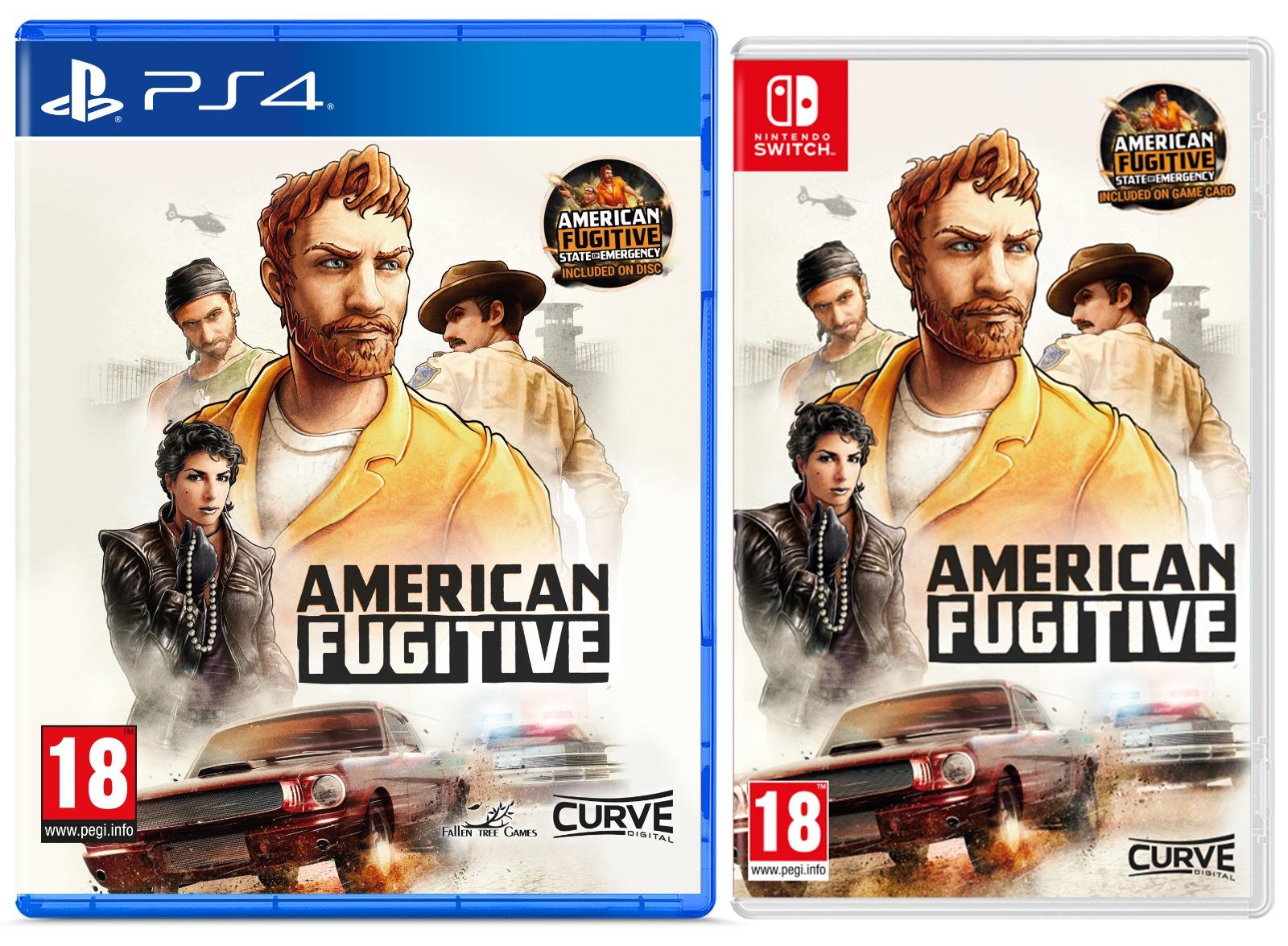 《美国逃犯》PS4/NS中文实体版8月27日推出