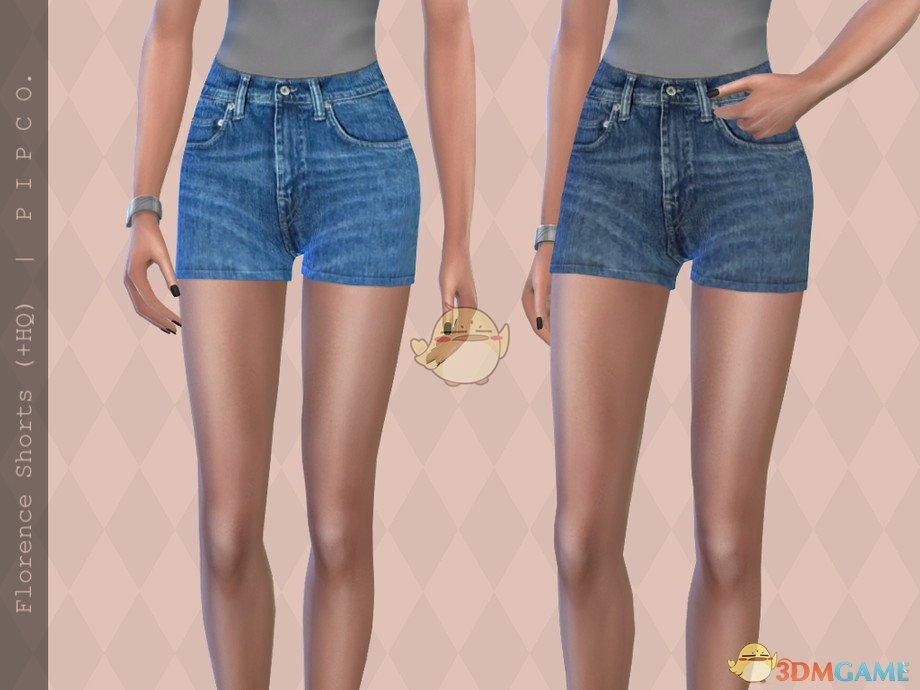 《模拟人生4》女性夏季牛仔短裤MOD