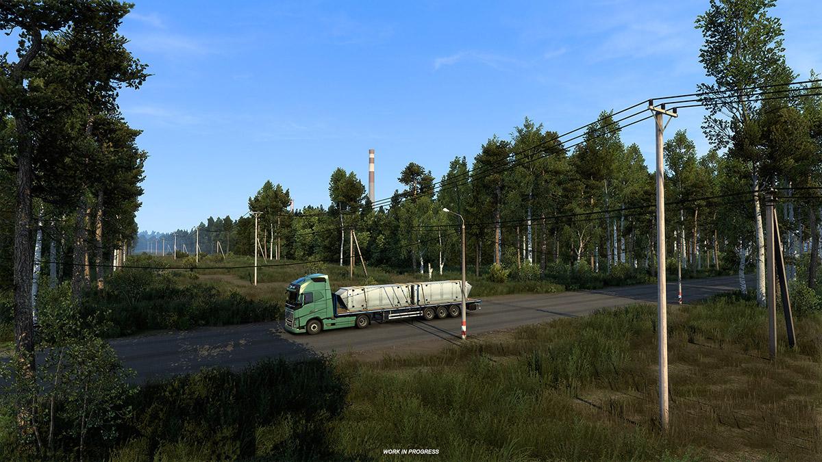 """《欧洲卡车模拟2》""""俄罗斯之心""""DLC上架Steam商城页面"""