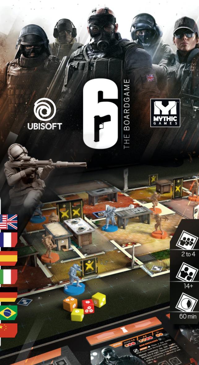 《彩虹六号:围攻》授权桌游开启众筹 2022年6月发售