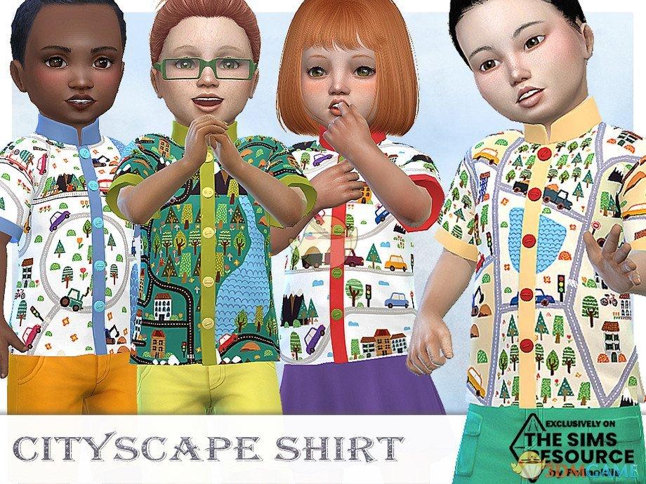 《模拟人生4》儿童的彩色衬衫MOD