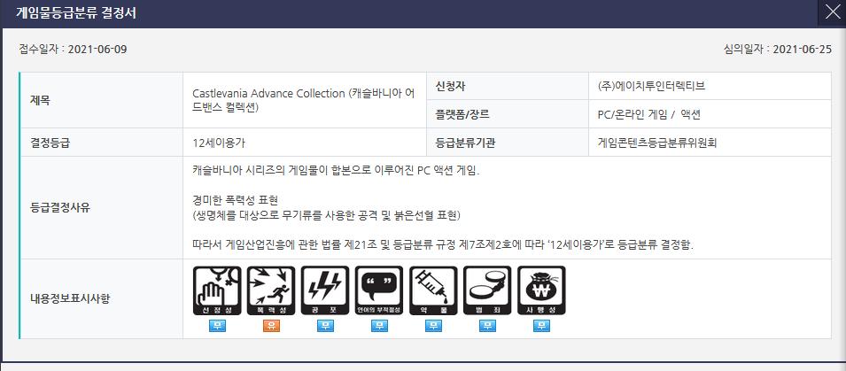 《恶魔城高级收藏版》在韩国评级 或将登陆PC平台