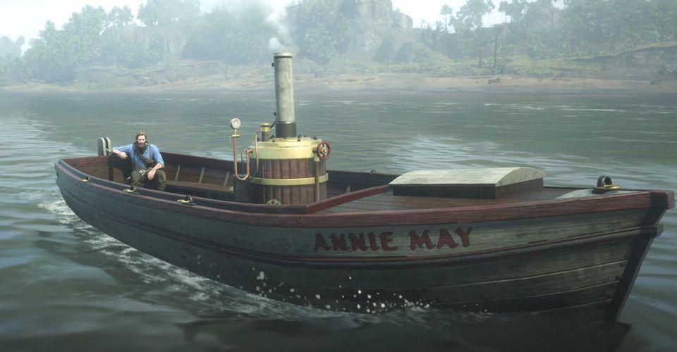 《荒野大镖客2》趣味BUG视频:亚瑟坐上摩托艇
