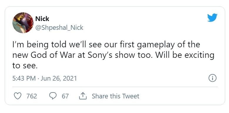 传索尼下次发布会将公布《战神》新作实机演示