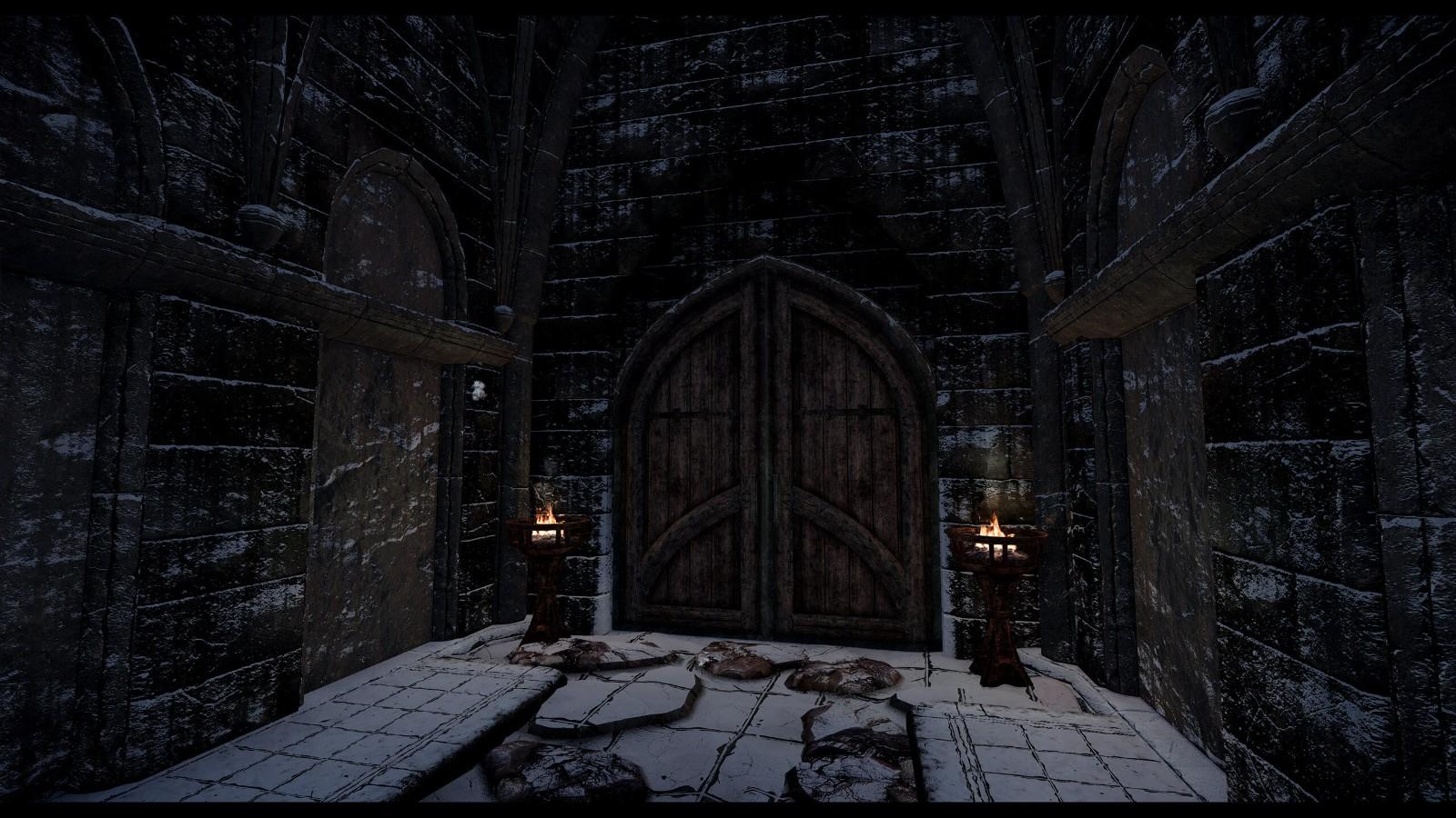 《上古卷轴5》8K高清材质包 重制瓦尔奇哈城堡