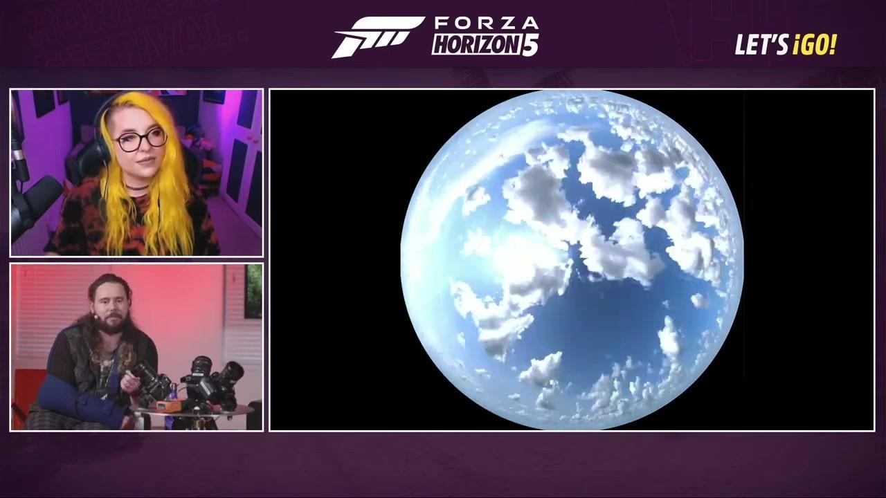 《极限竞速:地平线5》采用了超过2000种天空预设图
