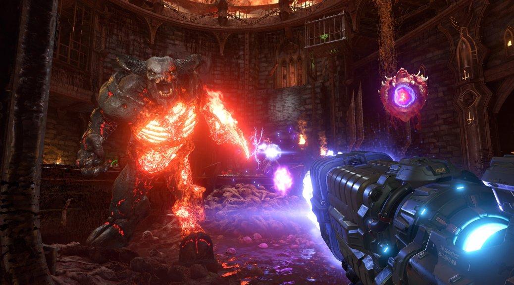 《毁灭战士:永恒》光追开启前后画面对比
