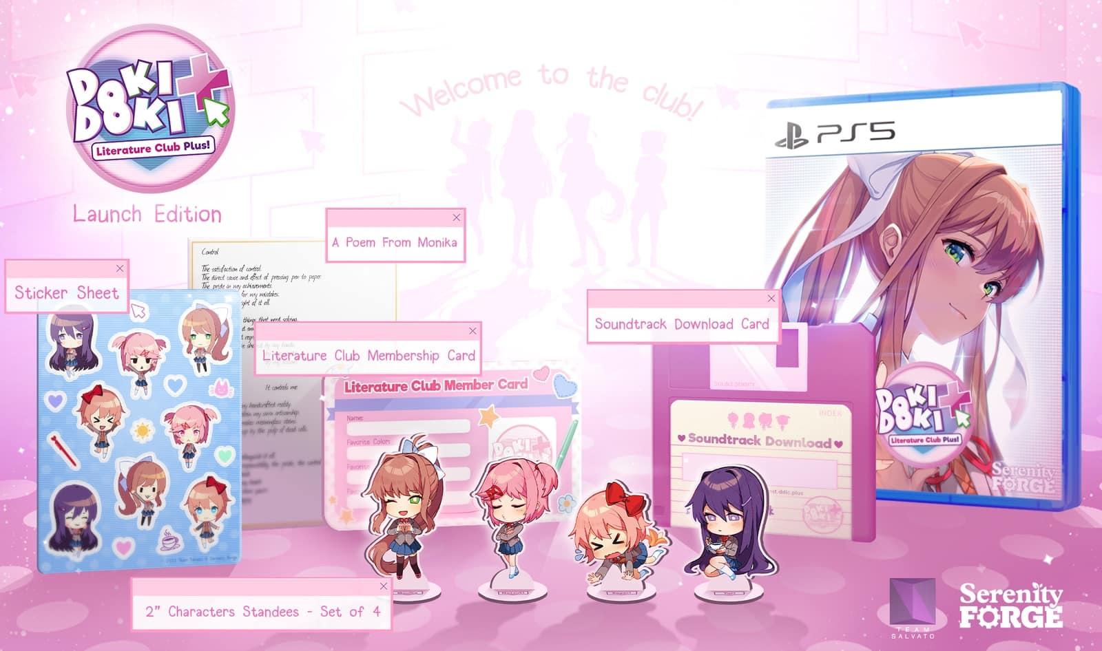 主机版《心跳文学部Plus》10月7日开始发售 有实体预购奖励