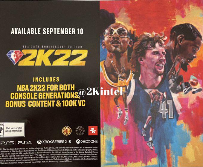《NBA 2K22》新传闻:上市日期与三大封面球员泄露