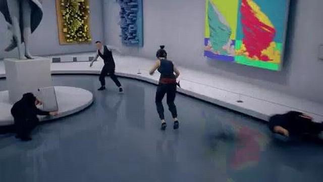 功夫题材游戏《师父》新动图演示 女主殴打敌人