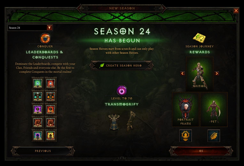 《暗黑3》第24赛季7月23日开启 赛季主题无形之忆