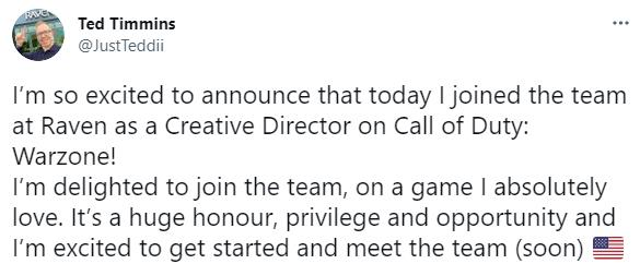 原《孤岛惊魂6》总监加入Raven工作室 担任《使命召唤:战区》创意总监