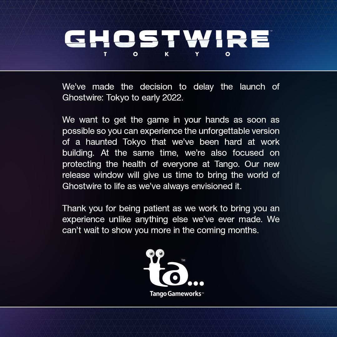 为完善游戏内容 《幽灵线:东京》宣布延期至2022年