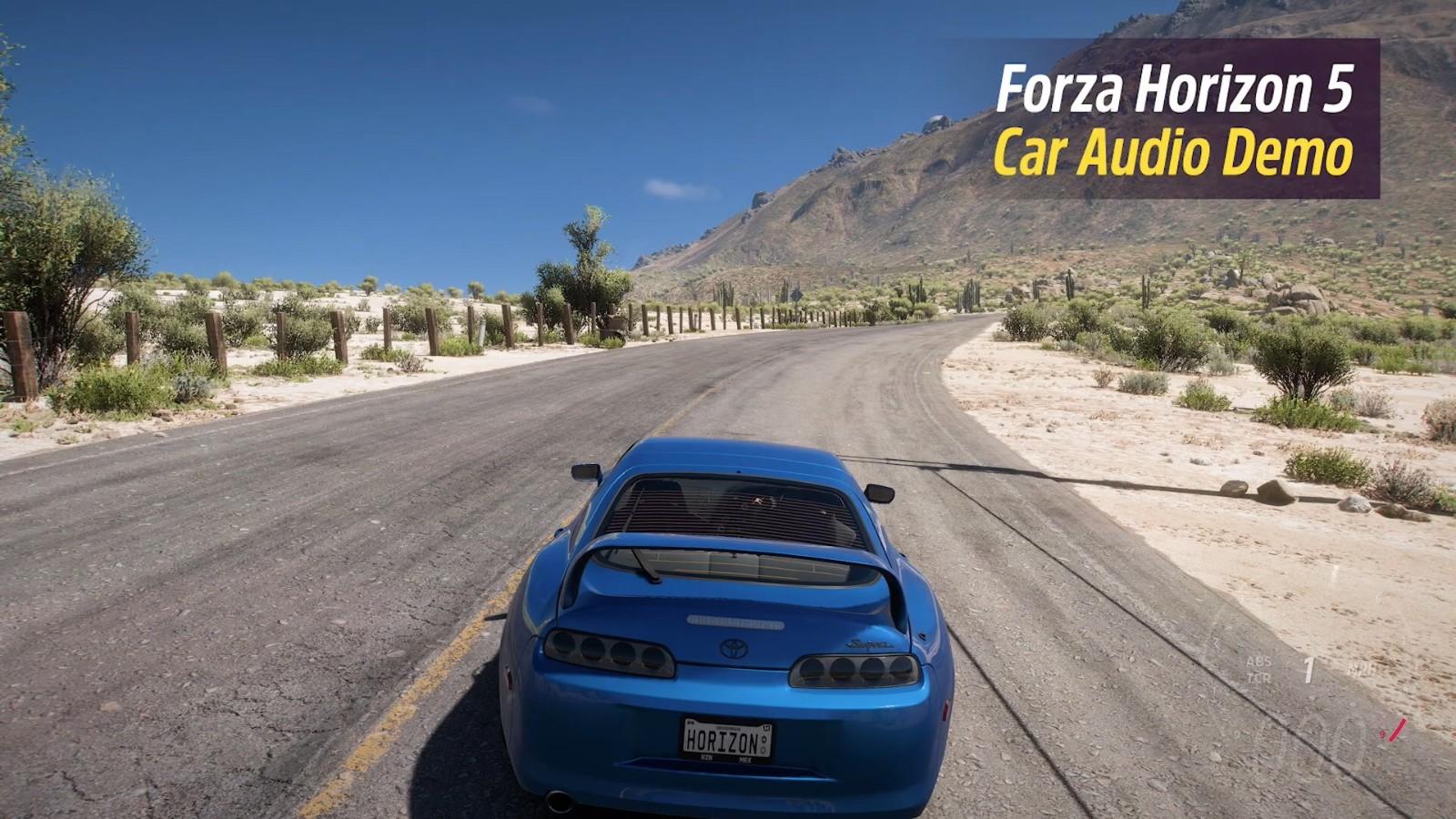 《极限竞速:地平线5》全新演示 展示游戏内汽车音效