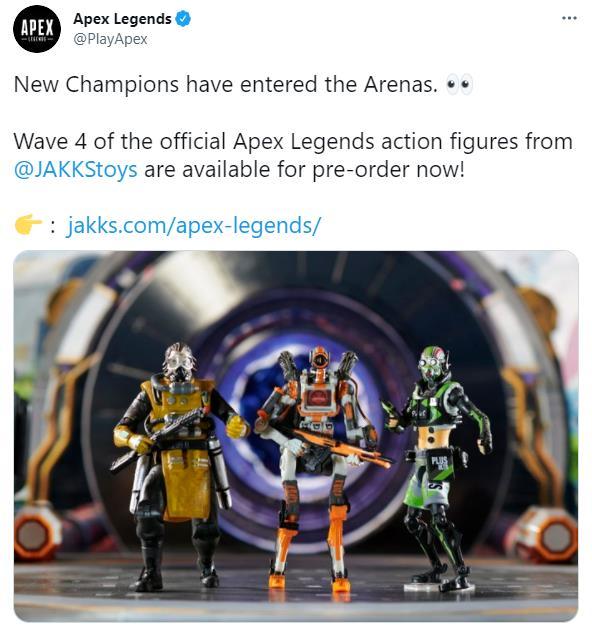 《Apex英雄》第四波官方玩偶预购开始 探路者、动力小子等售价均为19.99美元