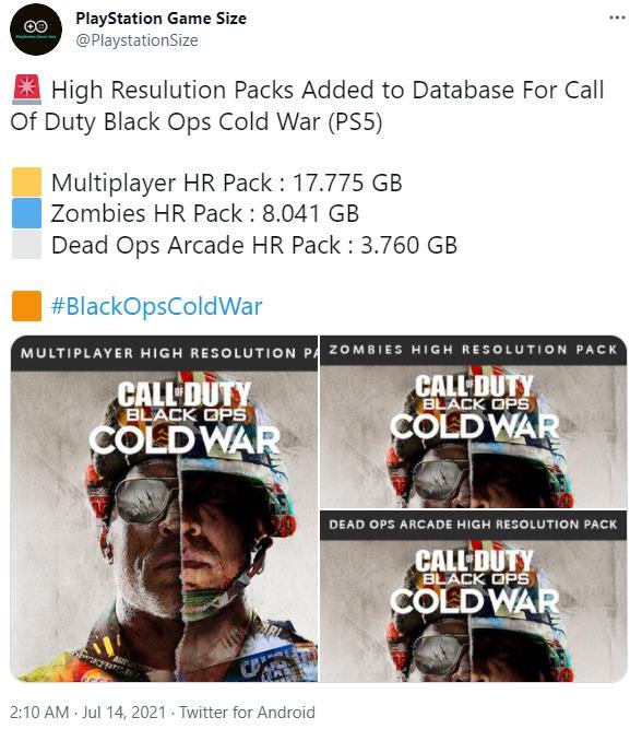 《使命召唤17:黑色行动 冷战》将推出PS5高分辨率更新 包含多人模式及丧尸模式