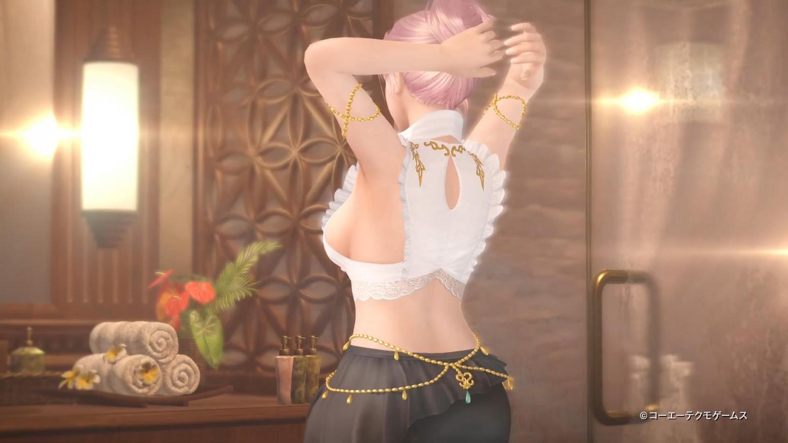 《死或生:女神假期》艾莉丝宣传PV 性感黑丝女神