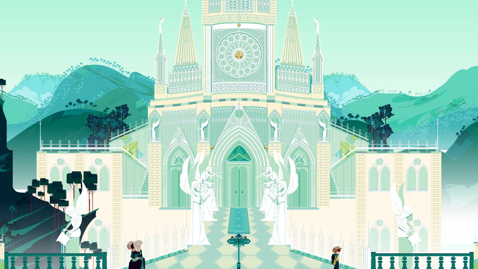 《水晶传说》的精妙设计:现实场景转换成游戏画面