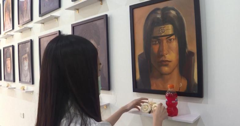 泰国女画家举办动漫先逝脚色肖像展 画风奇特引热议