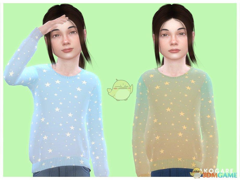 《模拟人生4》女孩的闪亮星星毛衣MOD