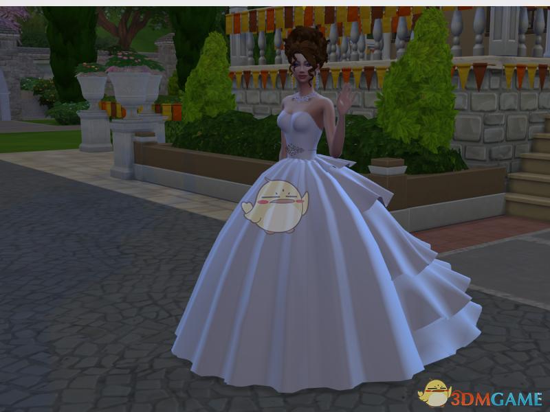《模拟人生4》蓬松白色婚纱MOD