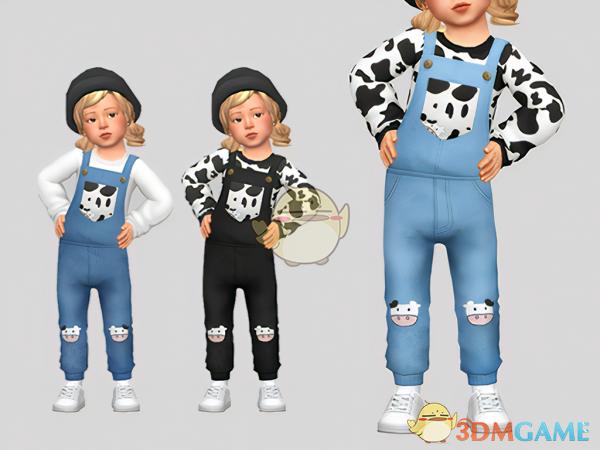 《模拟人生4》女童奶牛吊带服装MOD