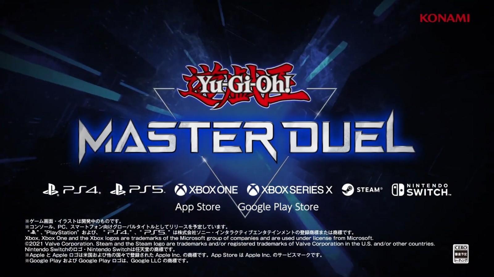Konmai公布《游戏王:大师对决》和新手游