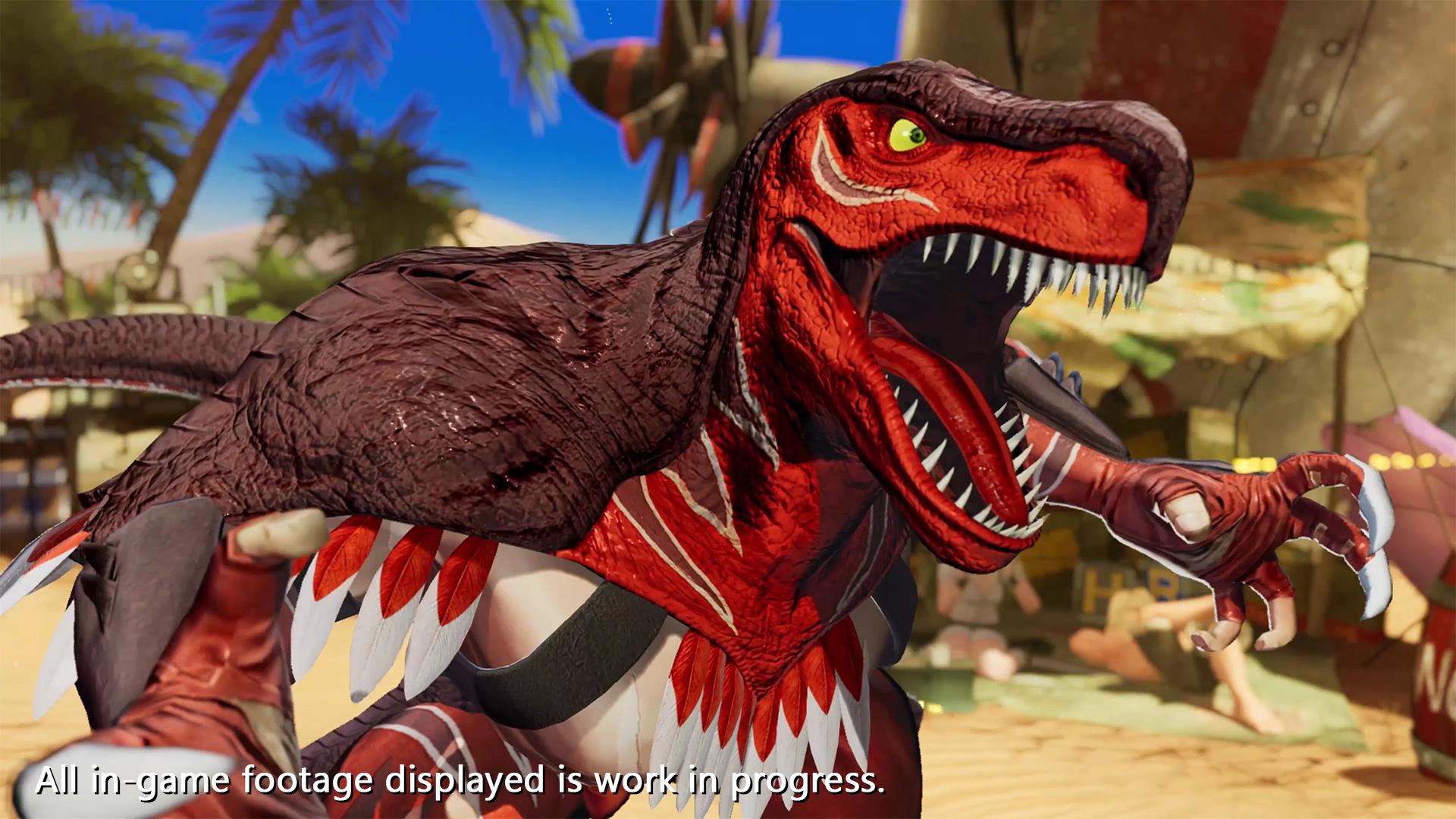 """《拳皇15》公布新角色""""恐龙之王""""宣传片 投技冲撞重型选手"""