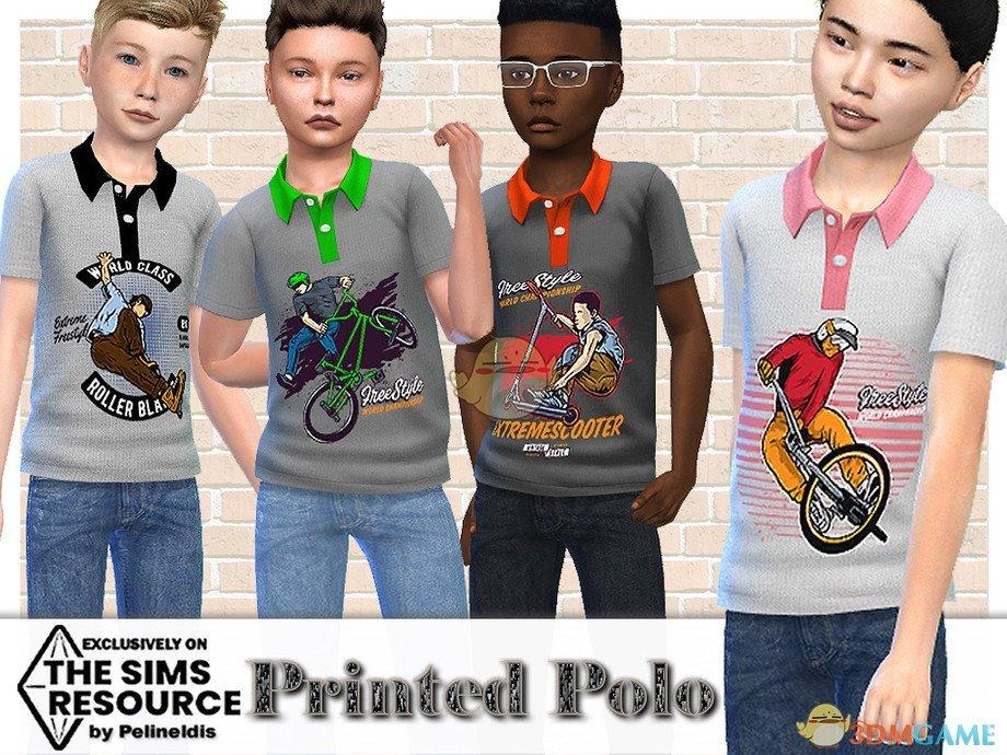 《模拟人生4》运动Polo衫MOD