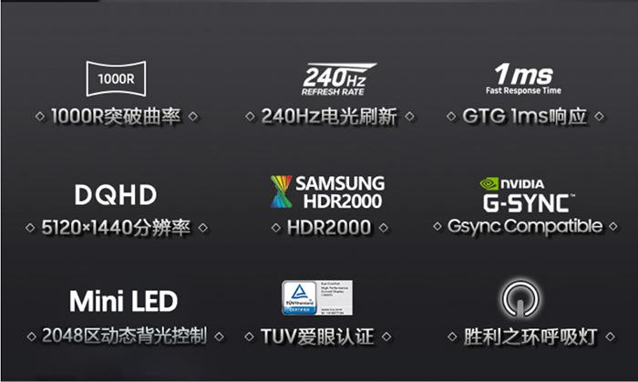 三星Odyssey Neo G9将于7月29日开售 暂不清楚价格