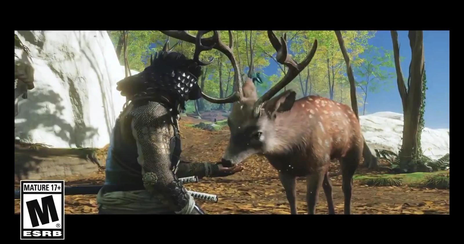 《对马岛之鬼:导演剪辑版》玩家能撸猫撸鹿撸猴子